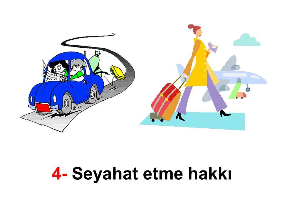 4- Seyahat etme hakkı