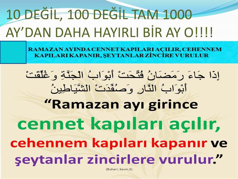 10 DEĞİL, 100 DEĞİL TAM 1000 AY'DAN DAHA HAYIRLI BİR AY O!!!! 30.05.2016