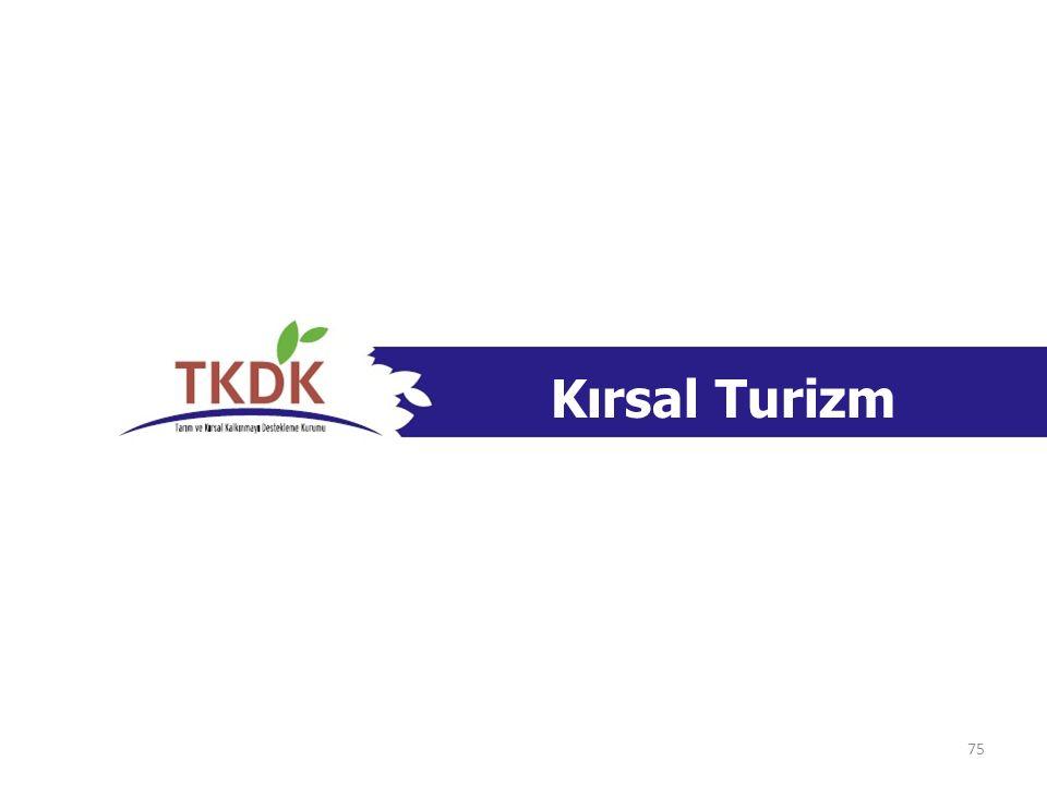 Kırsal Turizm Kırsal alanlarda yer almalı, Çiftlik turizmi söz konusu ise, faydalanıcı ÇKS'ye kayıtlı olmalı veya TUİK Adrese Dayalı Kayıt Sistemi'nde Çiftçi hane halkı olarak kayıtlı olmalı, Faydalanıcı, Turizm Tesislerinin Ruhsatlandırılması ve Nitelikleri Hakkında Yönetmelik hükümlerine göre gerekli sertifikalar ile 5179 sayılı Gıda Kanunu ve/veya gereken durumlarda 5393 sayılı Belediye Kanunu hükümlerine uygun olarak üretim ve kayıt sertifikalarına sahip olmalı (Yeni kurulacak ise, proje sonunda bu sertifikalara sahip olmayı taahhüt etmeli), Konaklama tesisleri yatırımın sonunda en fazla 15 yatak kapasitesine sahip olmalı, Özel Uygunluk Kriterleri 76