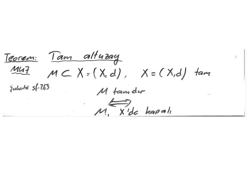 Teorem NU15 Norm sınırlı lineer operatör 'nin normu şu şekilde de ifade edilebilir: Norm koşullarını sağlar Tanıt olsun lineer Norm koşullarını sağlar mı?