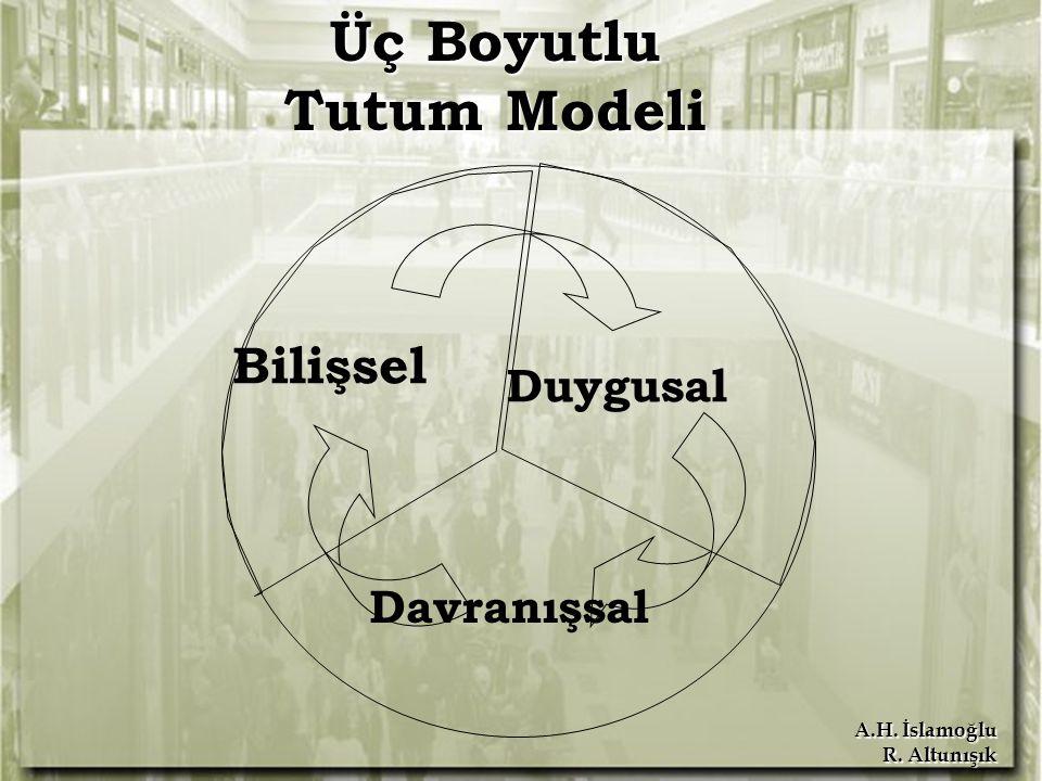 A.H. İslamoğlu R. Altunışık Bilişsel Duygusal Davranışsal Üç Boyutlu Tutum Modeli