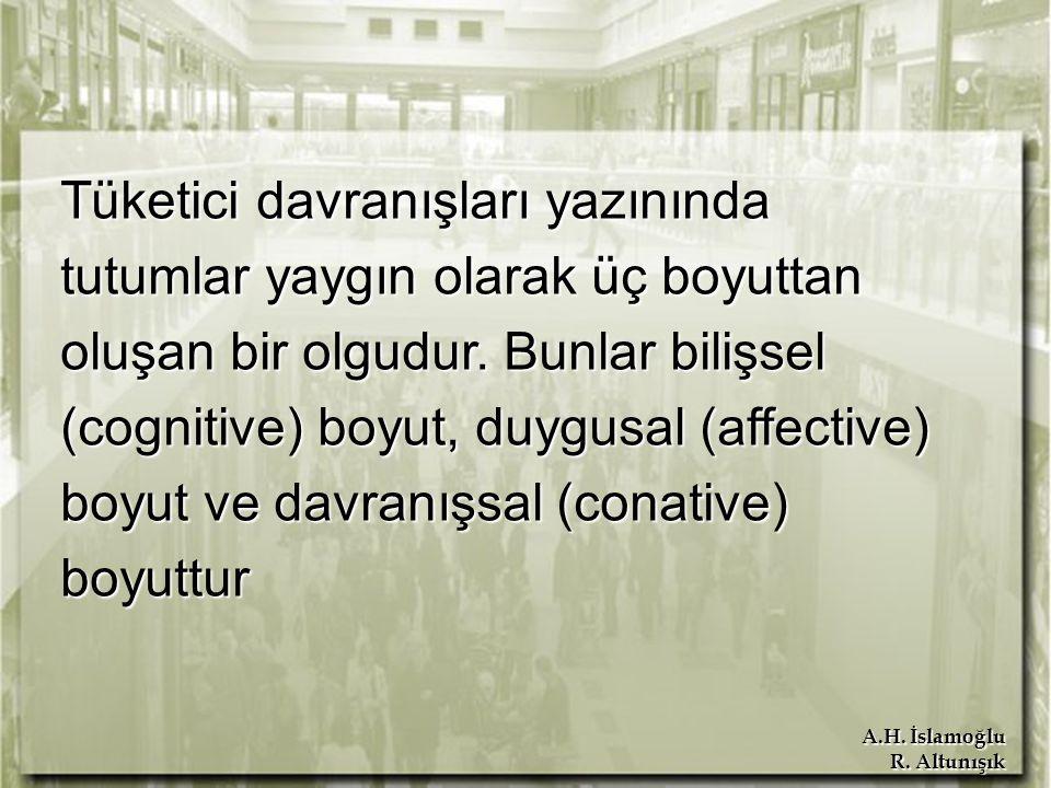 A.H.İslamoğlu R. Altunışık Tutumun Özellikleri Her tutumun bir objesi vardır.