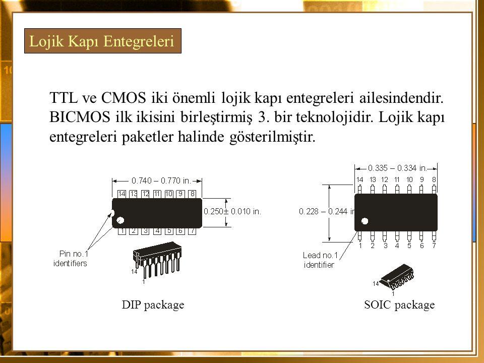 TTL ve CMOS iki önemli lojik kapı entegreleri ailesindendir. BICMOS ilk ikisini birleştirmiş 3. bir teknolojidir. Lojik kapı entegreleri paketler hali