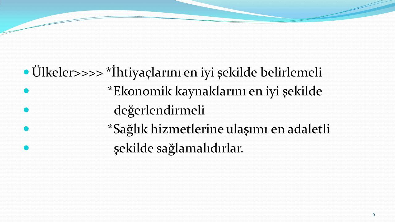 Türkiye'de sağlık hizmetlerine erişim OECD'nin 2015 raporuna göre ise Türkiye'de insanların %95'inden fazla sağlık sigortası kapsamında sağlık hizmetlerine erişim hakkına sahipken, sağlık hizmetlerinin kalitesine ilişkin veriler hala bulunmamaktadır.