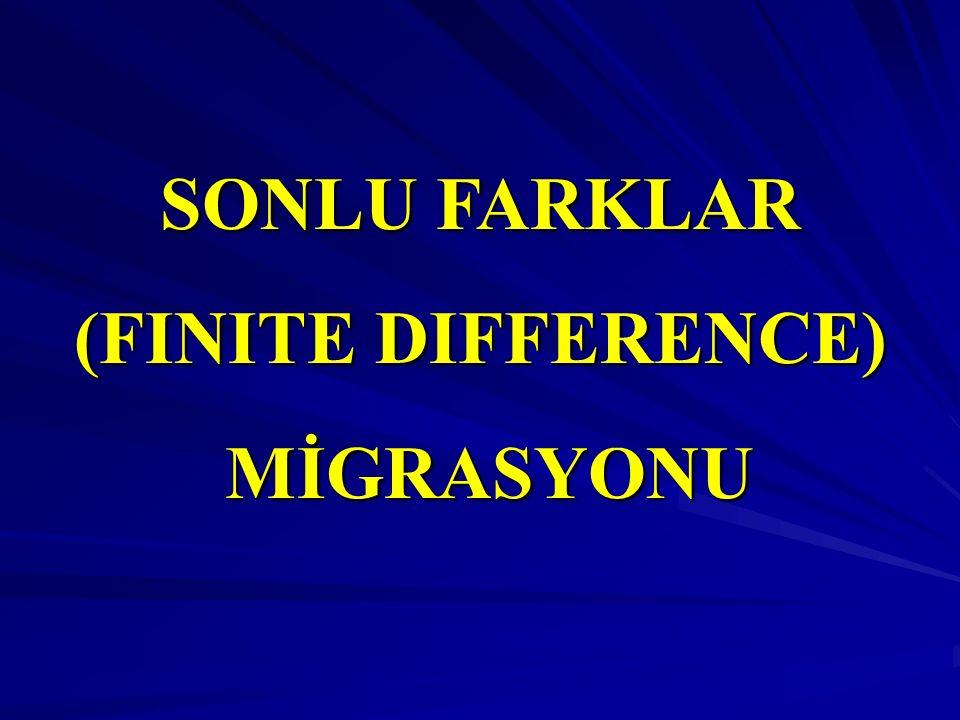 SONLU FARKLAR (FINITE DIFFERENCE) MİGRASYONU MİGRASYONU