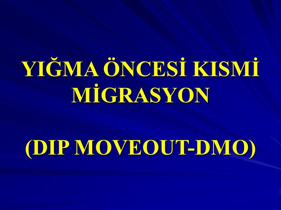 YIĞMA ÖNCESİ KISMİ MİGRASYON (DIP MOVEOUT-DMO)