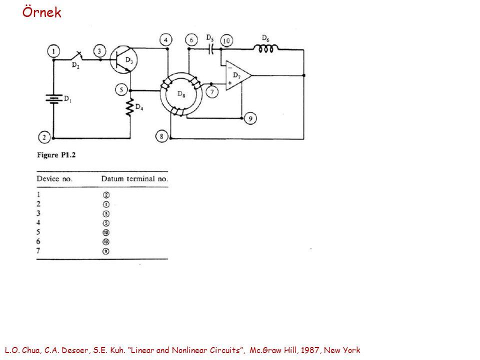 "Örnek L.O. Chua, C.A. Desoer, S.E. Kuh. ""Linear and Nonlinear Circuits"", Mc.Graw Hill, 1987, New York"