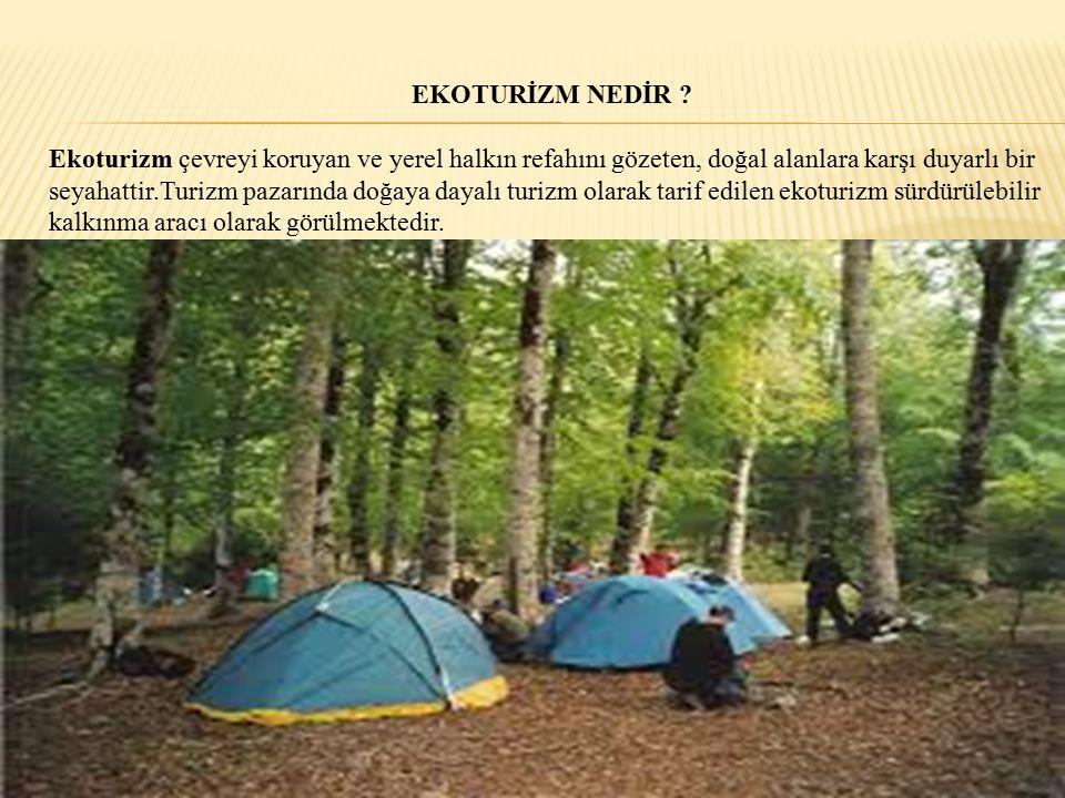Dünya Turizm Örgütüne göre ekoturizmin amacı; 1.