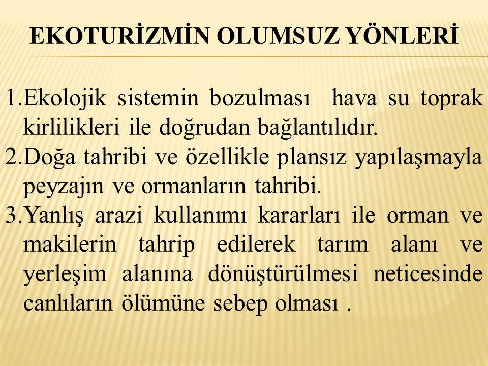 DÜNYADA EKOTURİZM 1.AVUSTRALYA : MİLLİ PARKI 2.