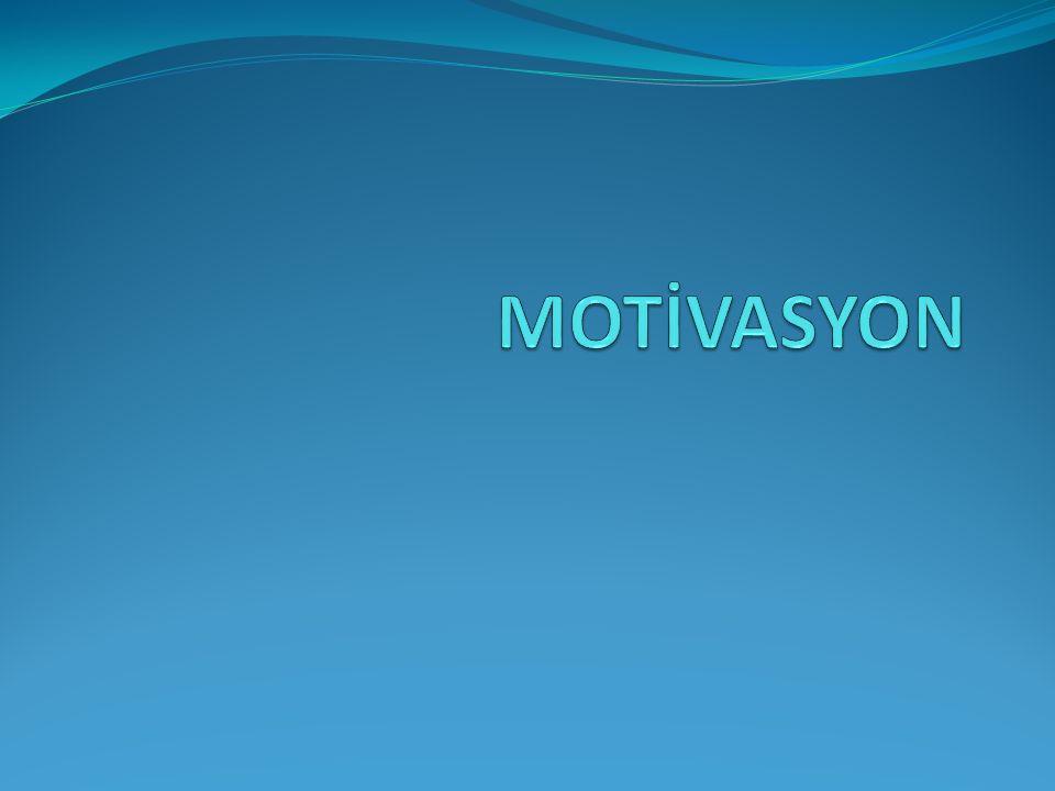 SUNUM PLANI Motivasyon tanımı İş motivasyonu ile ilgili teoriler Bu teorilerin iş motivasyonunu artırmadaki etkileri İş motivasyonunun çalışma performansı ile ilişkisi