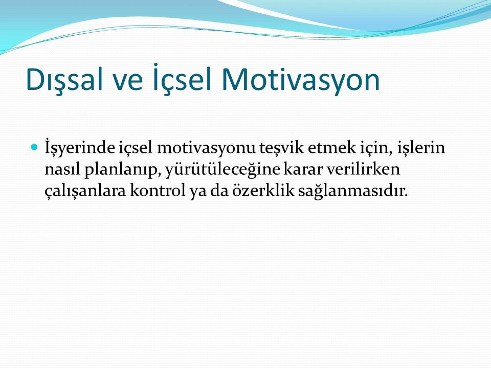 Hedef Belirleme Teorisi Özel ve zorlu performans hedeflerinin ve motivasyonun önemli belirleyicileri olarak bu hedeflere olan çalışan bağlılığının rolünü vurgular.