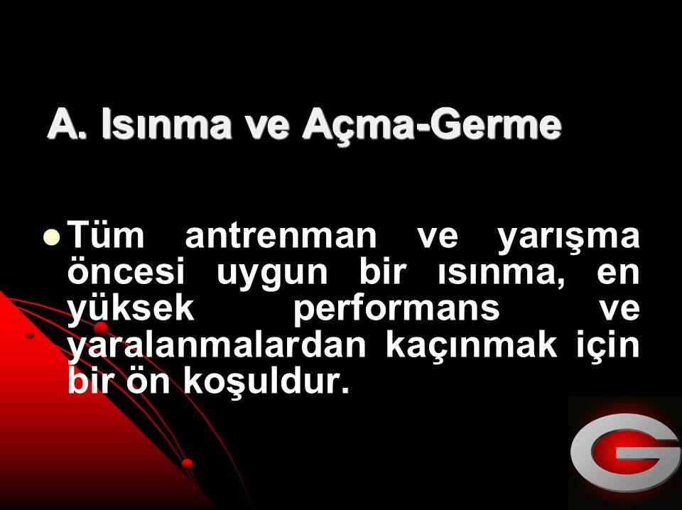 A. Isınma ve Açma-Germe A.
