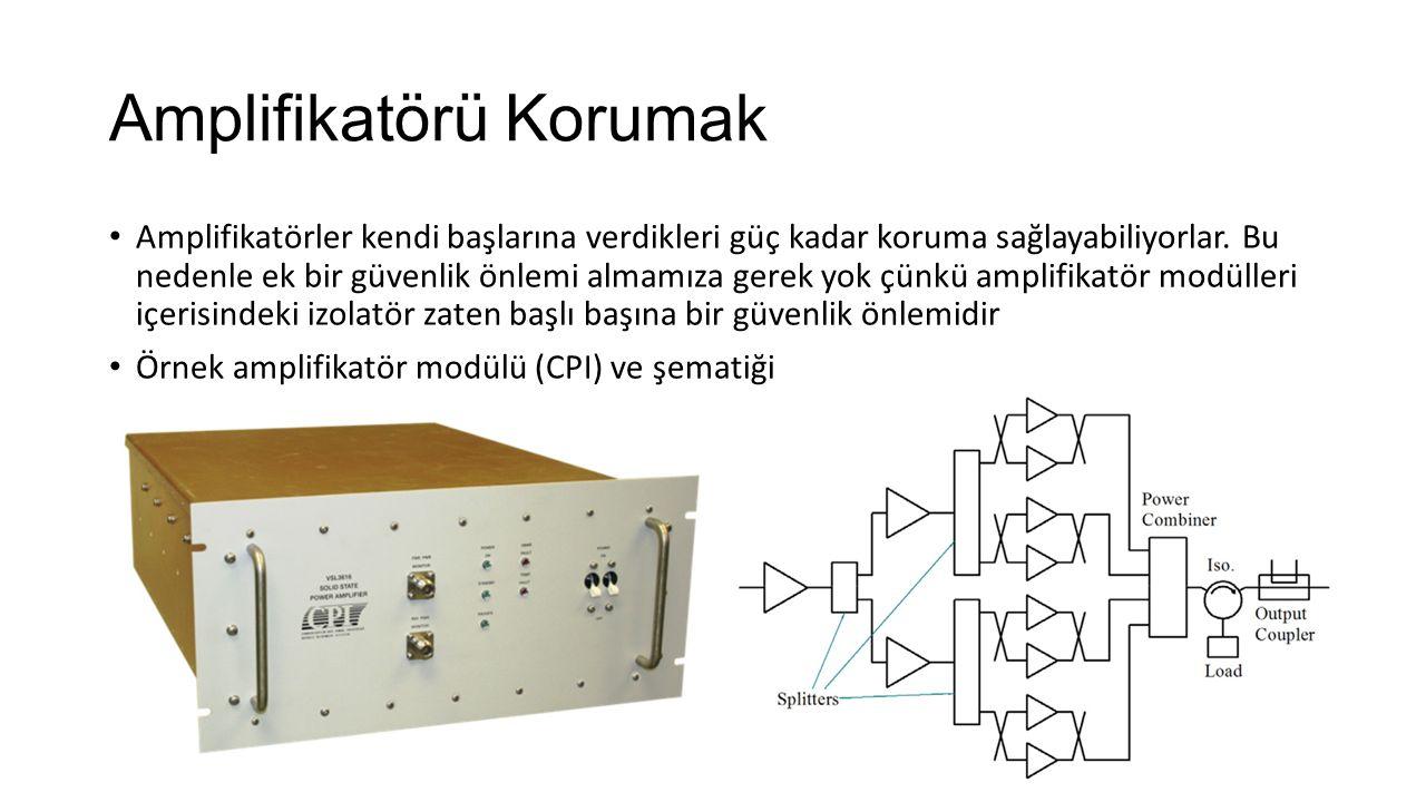 Amplifikatörü Korumak Amplifikatörler kendi başlarına verdikleri güç kadar koruma sağlayabiliyorlar.