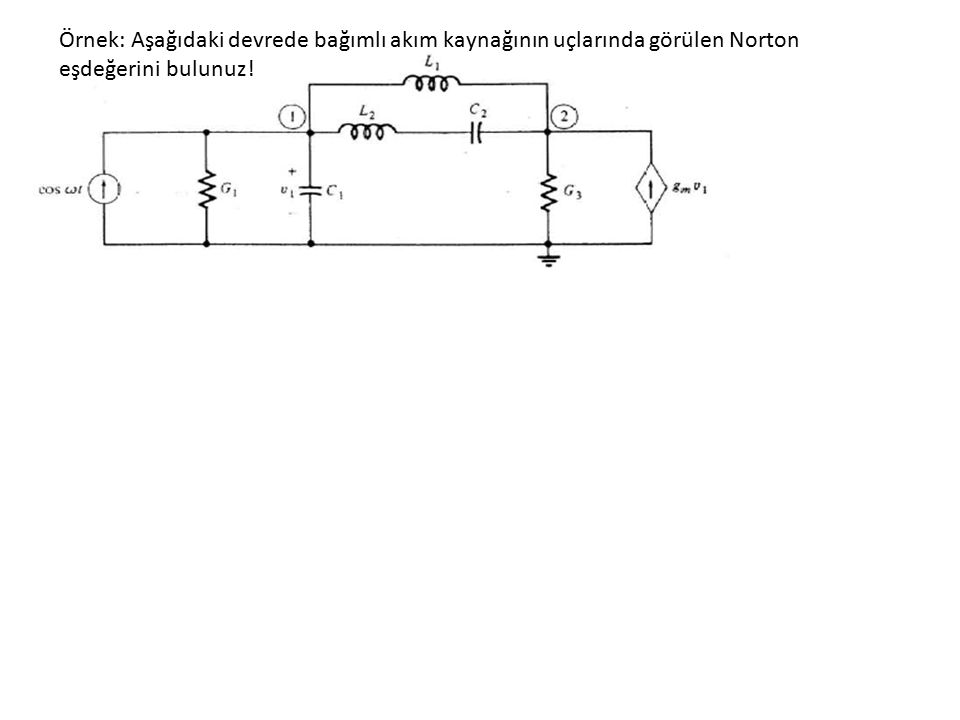 SSH'de Devre Fonksiyonları + _ E1E1 ISIS N Lineer zamanla değişmeyen elemanlar V d k 'nın I s den nasıl etkilenir.