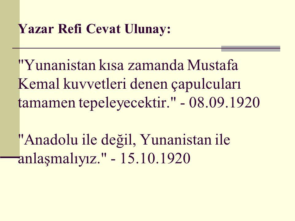 Yazar Refi Cevat Ulunay: