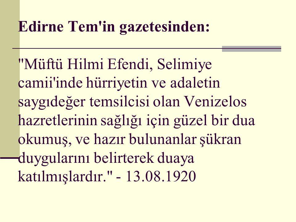 Edirne Tem'in gazetesinden: