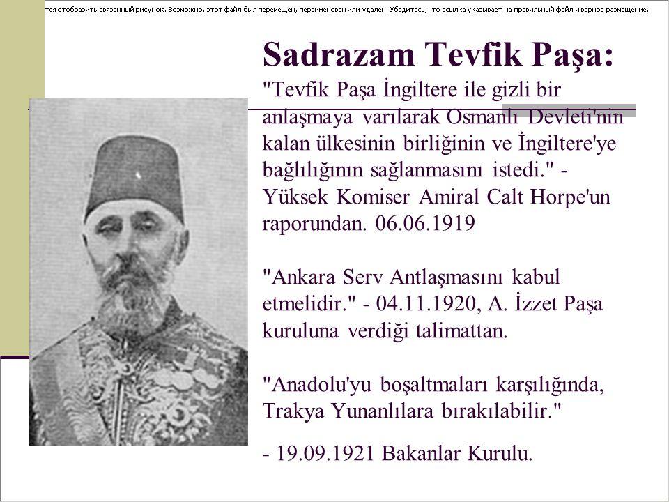 Sadrazam Tevfik Paşa: