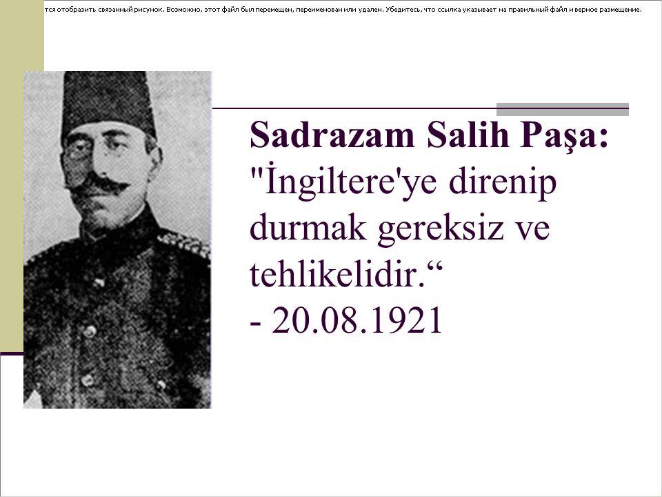 Delibaş Mehmet: Halifenin müttefiki olan İngilizler Pınarbaşı na doğru geliyorlar.