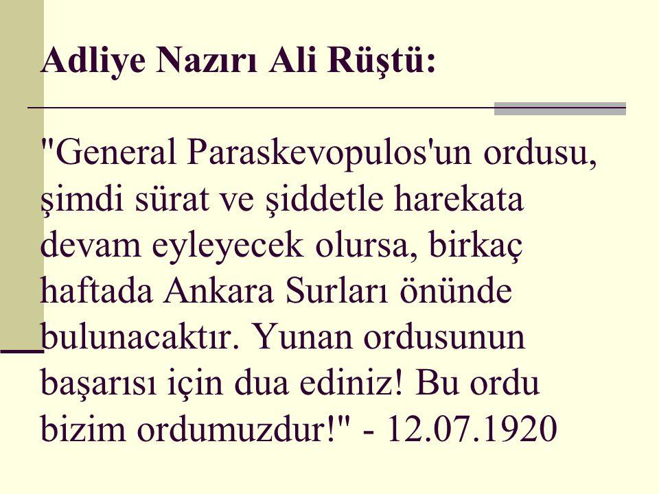 Adliye Nazırı Ali Rüştü: