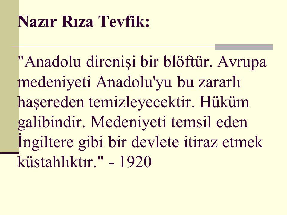 Konya nin 27 köyünün eşrafının İngiliz temsilcisine başvurusu: Milliyetçileri ezmek için İngiliz hükümetinin bize yardım elini uzatması... - 28.10.1920