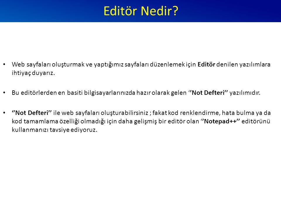 Editör Nedir.