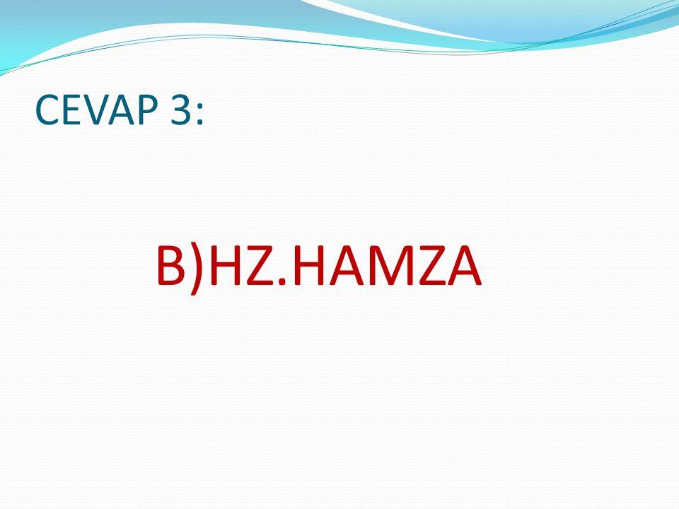 CEVAP 3: B)HZ.HAMZA