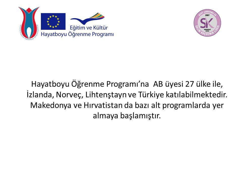 Hayatboyu Öğrenme Programı'na AB üyesi 27 ülke ile, İzlanda, Norveç, Lihtenştayn ve Türkiye katılabilmektedir.