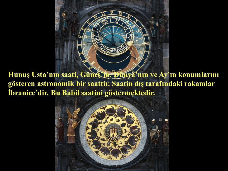 Hunuş Usta'nın saati, Güneş'in, Dünya'nın ve Ay'ın konumlarını gösteren astronomik bir saattir.