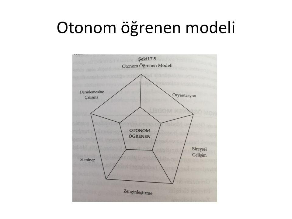 Otonom öğrenen modeli