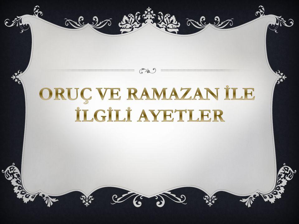  Âişe radıyallahu anhâ'dan rivayet edildiğine göre Resûlullah sallallahu aleyhi ve sellem şöyle buyurdu: Kadir gecesini ramazan'ın son on günündeki tek gecelerde arayın! (Buhârî, Leyletü'l-kadr 3)