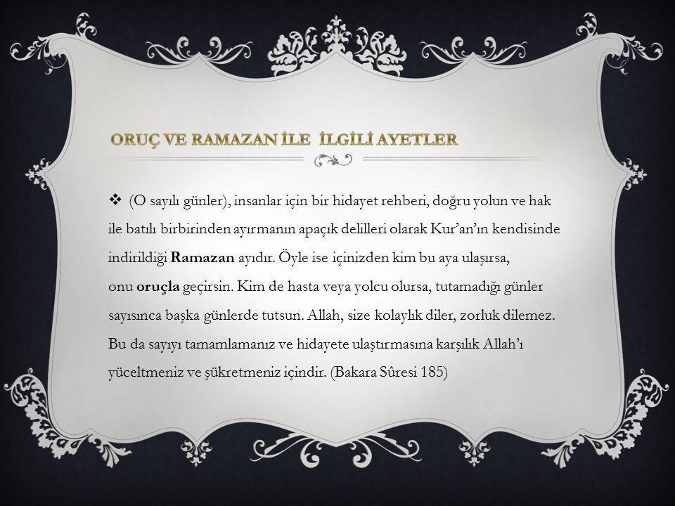 (O sayılı günler), insanlar için bir hidayet rehberi, doğru yolun ve hak ile batılı birbirinden ayırmanın apaçık delilleri olarak Kur'an'ın kendisin