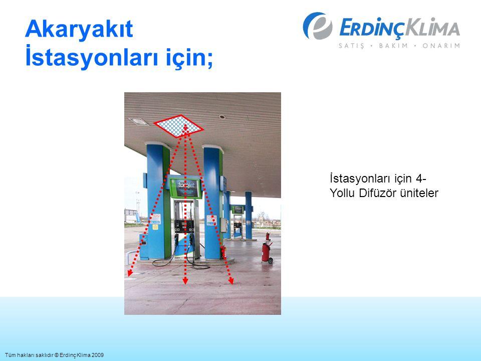 Akaryakıt İstasyonları için; İstasyonları için 4- Yollu Difüzör üniteler Tüm hakları saklıdır © Erdinç Klima 2009