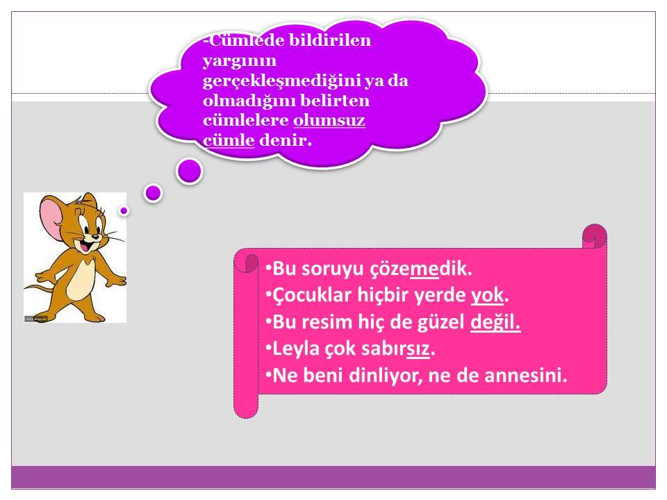 -İçinde tek bir yargı barındıran cümlelere tek yüklemli cümle (basit cümle) denir.
