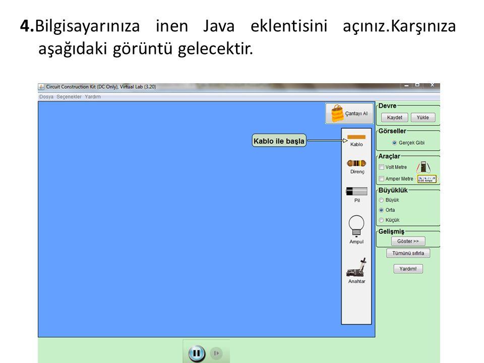 4.Bilgisayarınıza inen Java eklentisini açınız.Karşınıza aşağıdaki görüntü gelecektir.