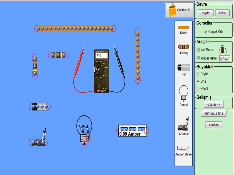 Şimdi basit bir elektrik devresi kuralım;