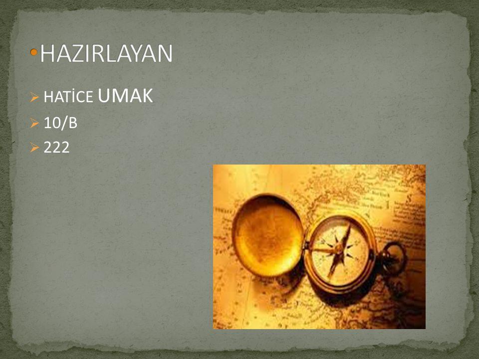  HATİCE UMAK  10/B  222
