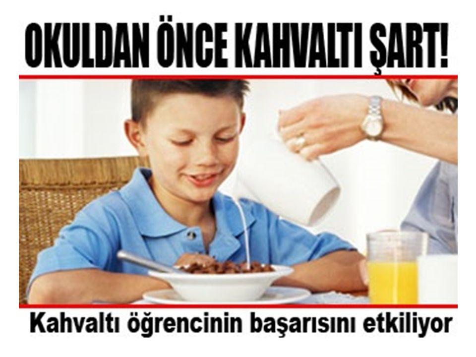 Kahvaltı yapan bir kişi yapmayan kişiye göre daha çok başarılı olur.