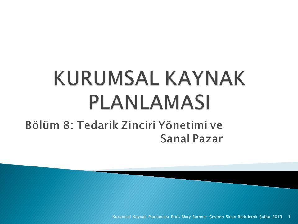 Bölüm 8: Tedarik Zinciri Yönetimi ve Sanal Pazar Kurumsal Kaynak Planlaması Prof.