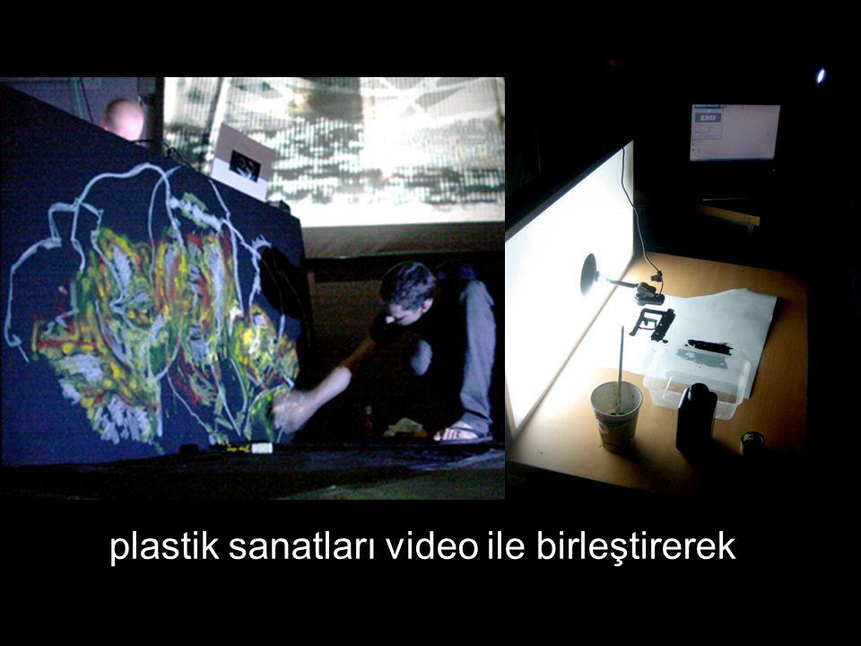 plastik sanatları video ile birleştirerek