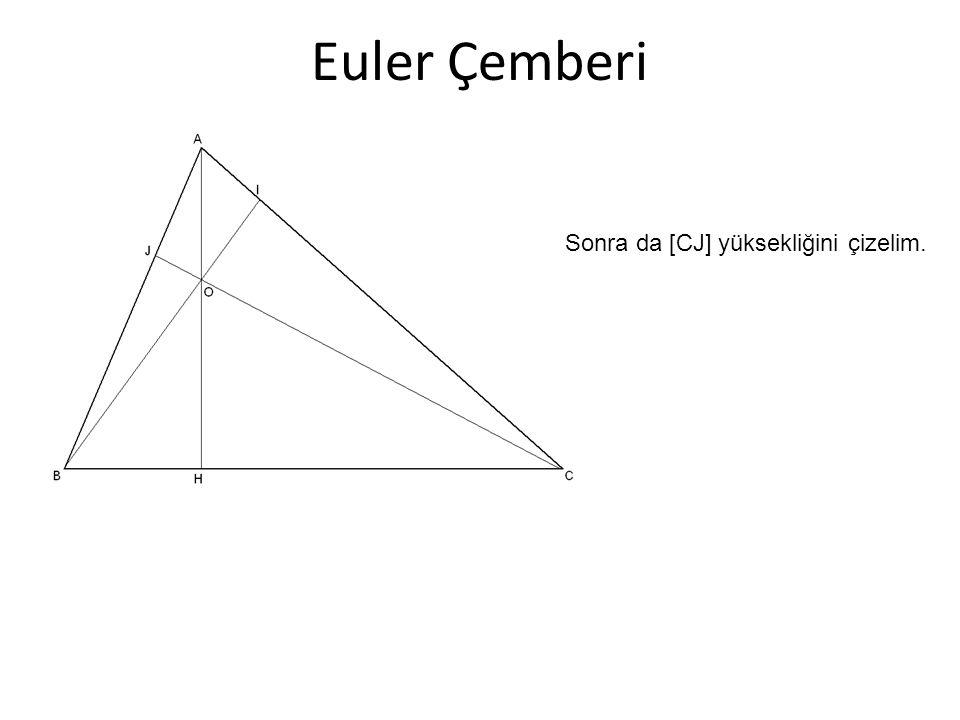 Euler Çemberi Sonra da [CJ] yüksekliğini çizelim.