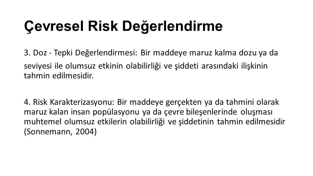 Çevresel Risk Değerlendirme 3.