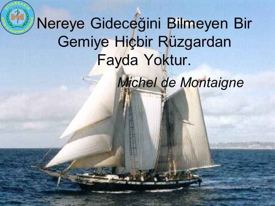 Nereye Gideceğini Bilmeyen Bir Gemiye Hiçbir Rüzgardan Fayda Yoktur. Michel de Montaigne
