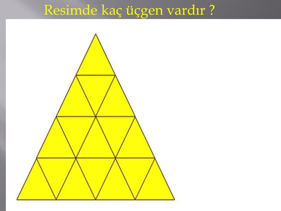 Resimde kaç üçgen vardır