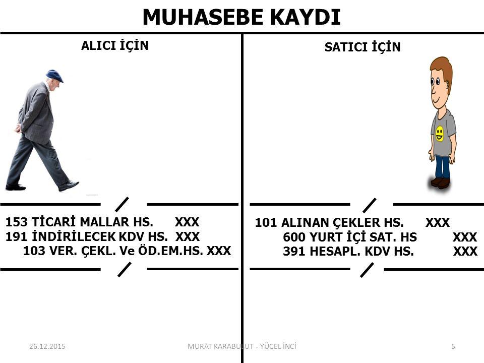 MUHASEBE KAYDI ALICI İÇİN SATICI İÇİN 153 TİCARİ MALLAR HS.