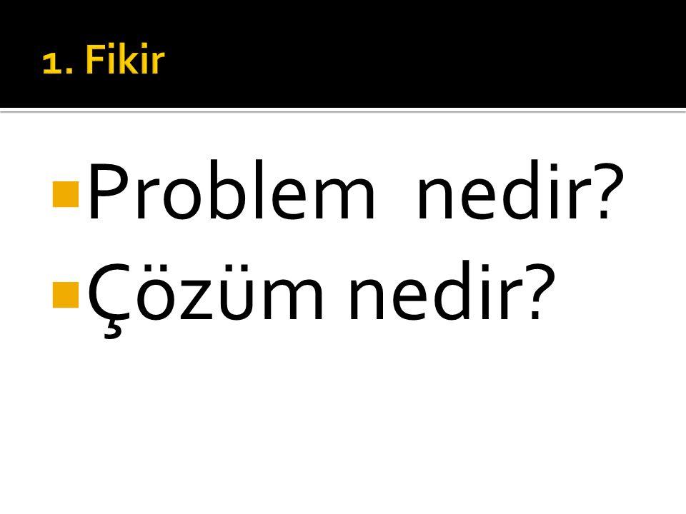  Problem nedir  Çözüm nedir