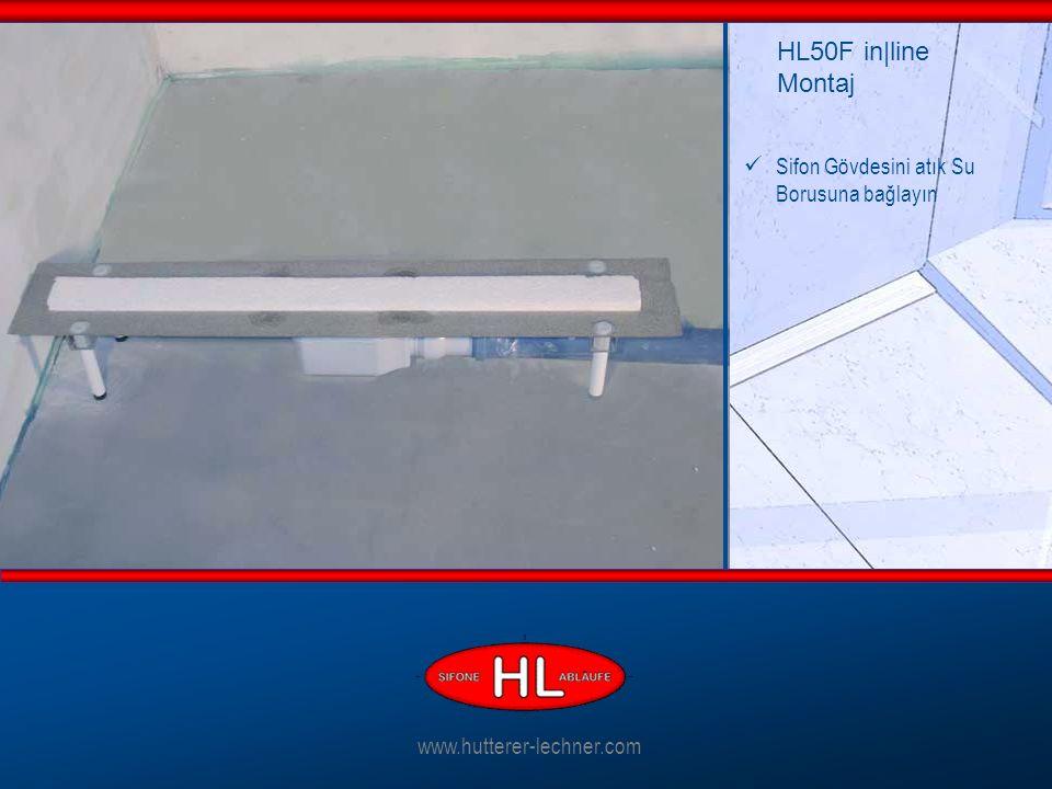 Sifon Gövdesini atık Su Borusuna bağlayın HL50F in|line Montaj www.hutterer-lechner.com