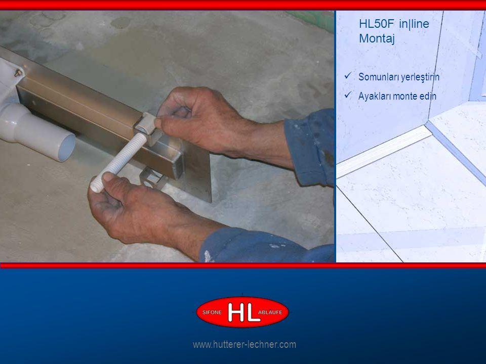 Somunları yerleştirin Ayakları monte edin HL50F in|line Montaj www.hutterer-lechner.com