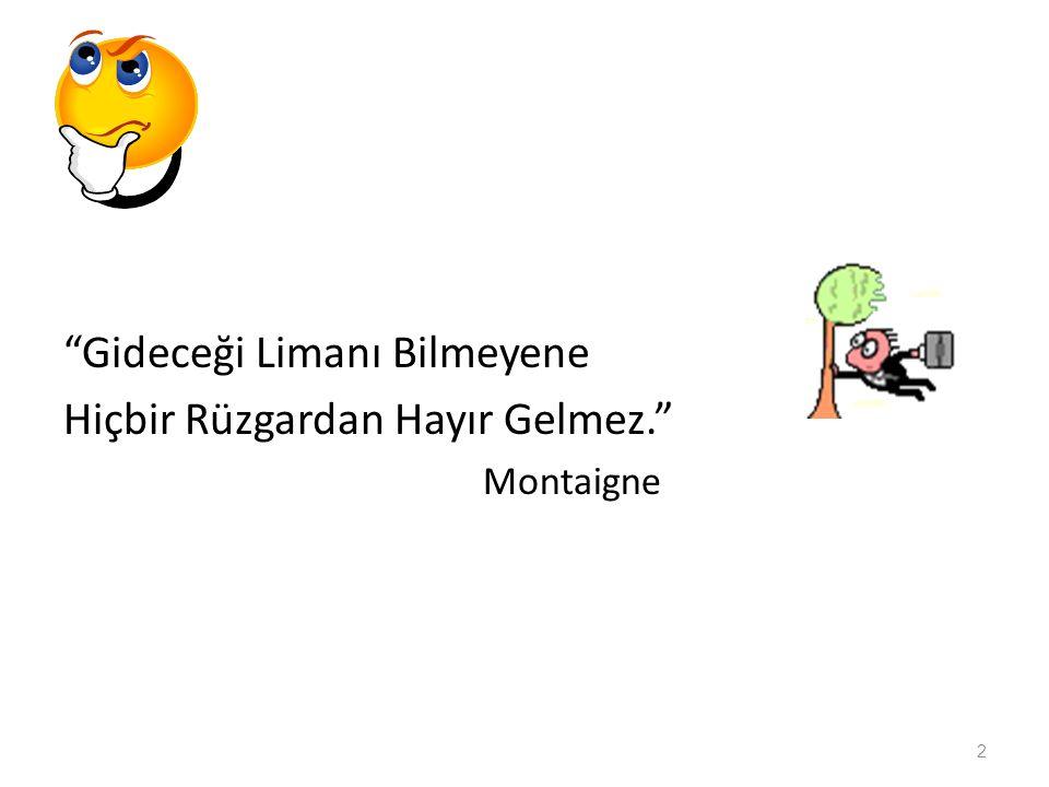 """""""Gideceği Limanı Bilmeyene Hiçbir Rüzgardan Hayır Gelmez."""" Montaigne 2"""
