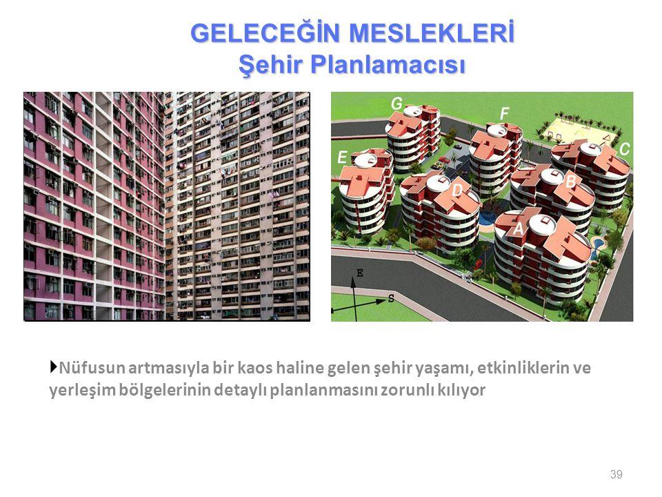  Nüfusun artmasıyla bir kaos haline gelen şehir yaşamı, etkinliklerin ve yerleşim bölgelerinin detaylı planlanmasını zorunlı kılıyor 39 GELECEĞİN MES