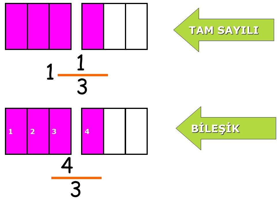 3 6 3 Aşağıda tam sayılı ve bileşik kesirler var.Hangi eşitlik doğrudur.